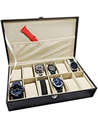 HOUSE OF QUIRK Watch Box 12 Slots By House Of Quirk (Black)