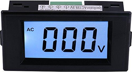 Yeeco LCD-Panel 0-600V Digital AC-Voltmeter Volt Panel Meter Amp Meter Voltage Monitor Electrical Tester Messgerät Anzeige AC / DC 8-12V Stromversorgung (12v Ac-panel)