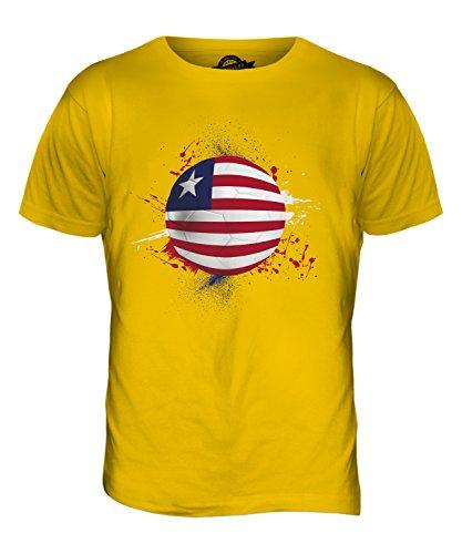 CandyMix Liberia Fußball Herren T Shirt Dunkelgelb