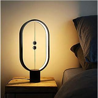 Unbekannt LED-Licht Heng Balance Innen Nachtlicht Lampe, Tischlampe Dekoration Augenschutz Studie Licht für Schreibtisch,Black