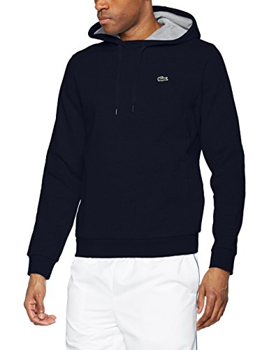 Lacoste Sport SH2128, Sweat-Shirt Homme, Multicolore (Marine/Argent Chine), X-Small (Taille Fabricant : 2)