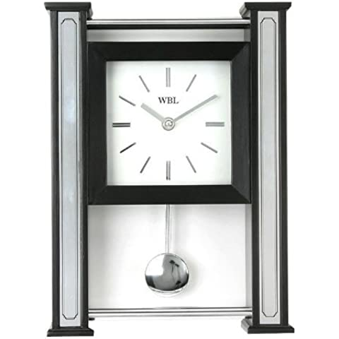 Watching Clocks - Reloj de mesa con péndulo (29 x 21 x 7 cm, madera)