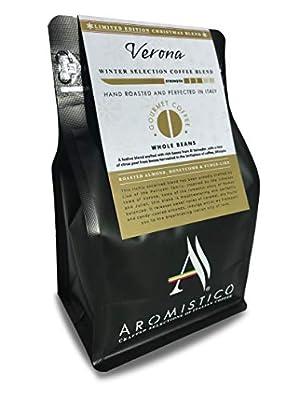 AROMISTICO   Limited Edition Festive Roast   Premium Italian Roasted Whole Coffee Beans   Verona Christmas Blend: Roasted Almond, Honeycomb and Fudge-Like by Arca S.r.l.