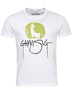 Michaelax-Fashion-Trade Marjo - Herren Trachten T-Shirt, M30 Gamsig (668400-020041)