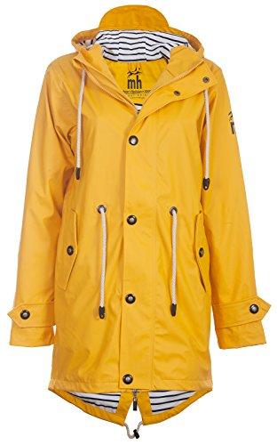 Friesennerz | Maritime Jacke | Regenjacke | veredelt | Das Original aus Ostfriesland in 2 Modell Norderney (M, Yellow)