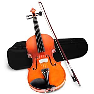 Violin 4/4 Size (Brown) Beginners Students Outfit with Case Bow Bridge Rosin