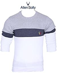 AT Fashion Round Neck Cotton Fabric Multi Color Daily Wear , Party Wear Stylish Full Sleeve T- Shirts For Men