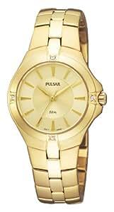 Pulsar Damen-Armbanduhr XS Analog Quarz Edelstahl PTC520X1