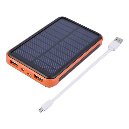WEIWEITOE-DE Portable Size 6000MAH Large Capacity Waterproof Mobile Phones External Solar Power Bank Battery Charger Charging Supply