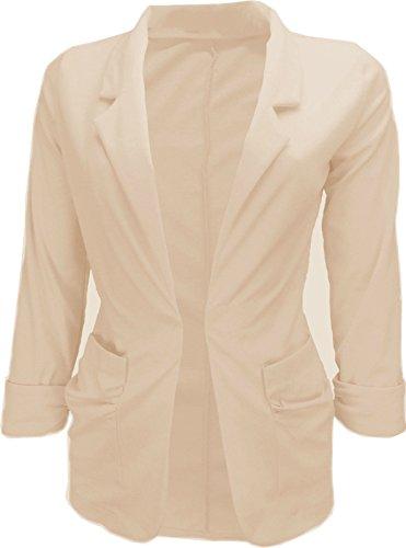 Glamour Fashion - Veste de tailleur - Femme Blanc - Crème