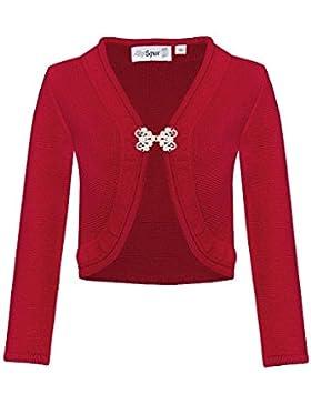 MOSER Trachten Strickbolero rot 005853 von AlpSpur, Material Baumwolle, Acryl