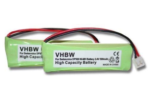 2 x Batería Ni-MH 500mAh 2