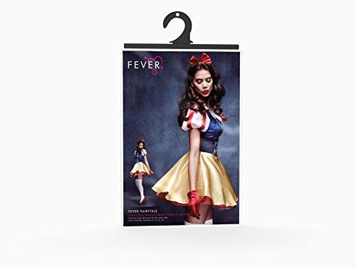 Fever, Damen Märchen Kostüm, Kleid, Unterrock, Haarreifen und Halsband, Größe: S, 30195 -