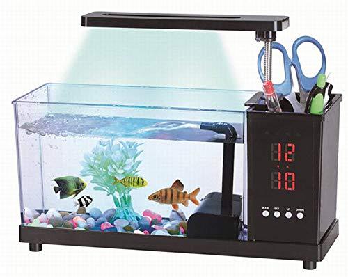 arium LED Schreibtischlampe Stifthalter Kleine Dekorative Ökologische Aquarium Nimm Dir Zeit Wecker ()