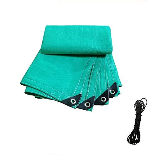 DGLIYJ Grünes 6-poliges Sonnenschutz-UV-Schutznetz mit Verschlüsselung für das Garten-Balkon-Carport-Beschattungsnetz (Size : 3x8m)