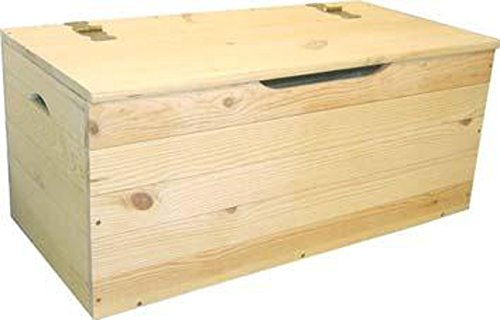 Cassapanca baule legno di pino giardino esterno cm cm 100x40x50 h