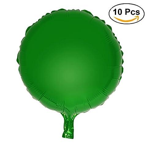 NUOLUX 10pcs 18 pouces Ballon Ronde pour Fête Anniversaire Halloween Noel Décoration(vert)