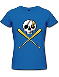 Women's T Shirts Pittsburgh Pirates Black XXXXL
