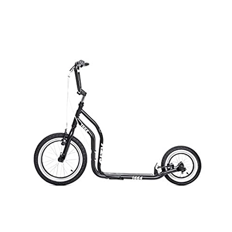 yedoo Noir New York Trottinette–Kick Bike–vient avec pneus à air pour adulte jusqu'à 120kg Scooter de 12ans teilmontiert dans le
