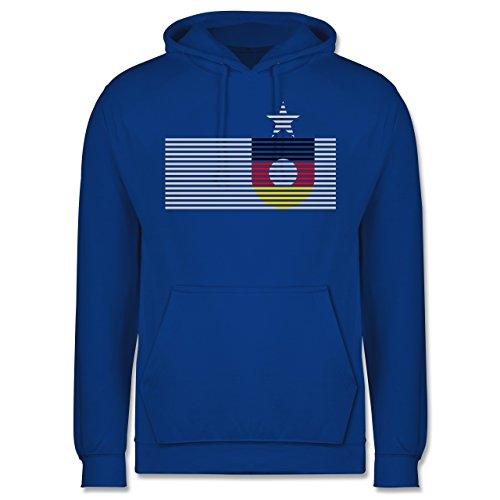 EM 2016 - Frankreich - Deutschland Streifen - Männer Premium Kapuzenpullover / Hoodie Royalblau
