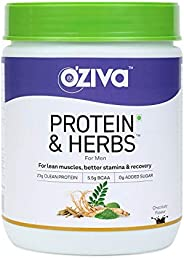 OZiva Protein & Herbs for Men, Chocolate, 16 Servings, 5