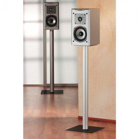 VCM 15245 Boxero Maxi Lot de 2 Supports d'enceintes Surroundstands sur Pied Aluminium/Verre Noir 71 cm