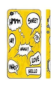 Enthopia Designer Hardshell Case Whose There? Back Cover for Apple IPhone 4