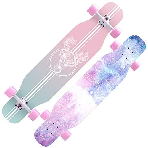 YYHSND Skateboard Anfänger Ahorn Longboard Erwachsene Jungen und Mädchen Professionelle Pinsel Street Dance Board Teen Vier Räder Skateboard (Color : C)