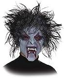 Fancy Me Erwachsene Herren Damen Gruselig Zombie Latex Ganzgesicht Narbt mit Haar Halloween Horror Kostüm Outfit Zubehör Maske