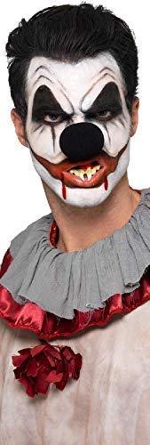 m Clown Zirkus Halloween Make-Up-Bemalung Spezialeffekte Nase Zähne Kostüm Kleid Outfit Satz ()