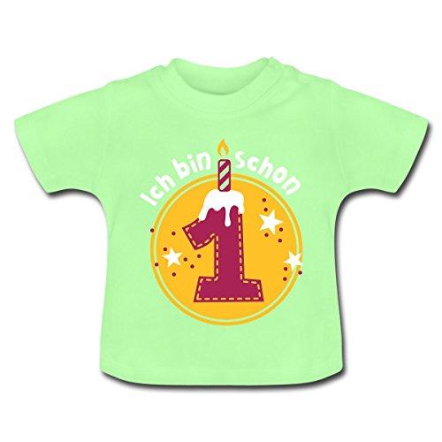 Spreadshirt Geburtstag Ich bin schon 1 Baby T-Shirt, 12-18 Monate, Mintgrün