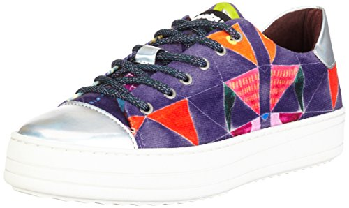 Desigual Space Funky, Baskets Basses Femme Rouge (Purpura Imperial 3126)