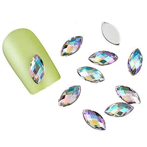 Surker 3D Crystal AB Couleur des yeux Cheval strass Conseils Nail Art d¨¦co design bricolage NPZP013