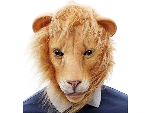 (Yhcean Gruselig Halloween Cosplay Lion Head Cover Maske lustige Maskerade Tricky Maske (gelb) für Party)