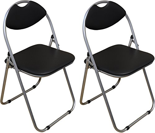 harbour-housewares-black-padded-folding-desk-chair-pack-of-2