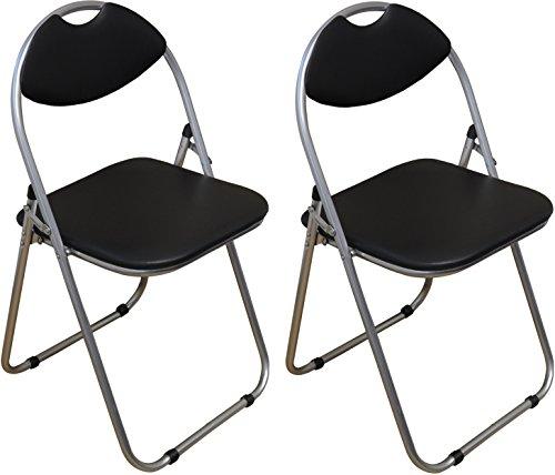 harbour-housewares-black-padded-folding-desk-chair-pack-of-2