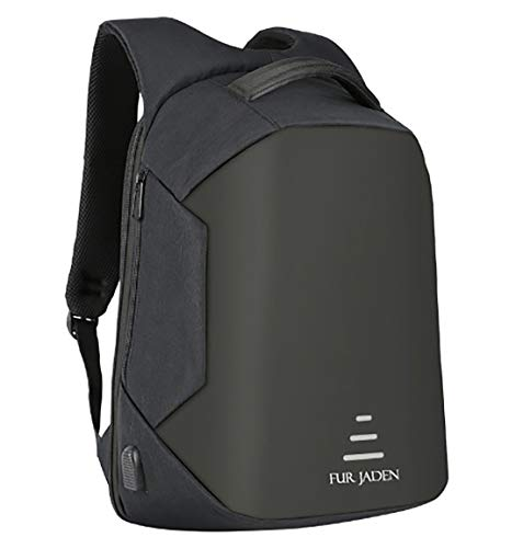 Fur Jaden 20 Ltrs Black Anti Theft Waterproof  Backpack