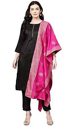 Cenizas Women's Faux Silk & Polyester Salwar Suit