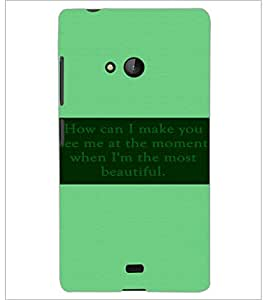 PrintDhaba Quote D-3484 Back Case Cover for MICROSOFT LUMIA 540 (Multi-Coloured)