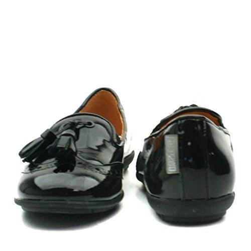 CINDY Step2wo School Shoe Slipon/Tassle for Girls >      > chaussure école Slip-on / panicule pour les filles Black Pat (noir)