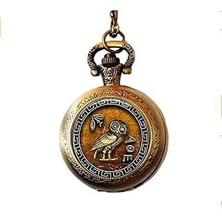 Athena's Owl Pocket Watch Necklace