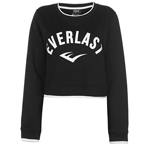 Everlast Damen Crop Sweatshirt Rundhals Pullover Pulli Schwarz L -