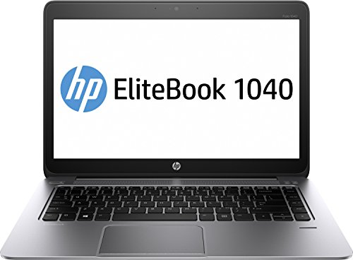 HP EliteBook Folio 1040 (H9W00EA) 35,56 cm (14 Zoll) Business Notebook (Intel Core i5-5200U, 2,2 GHz, 4 GB RAM, 128 GB SSD, HD Bildschirm, Windows 7 Pro 64) silber
