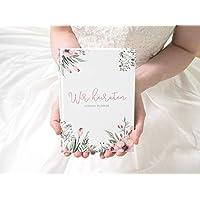 """""""Wir heiraten"""" – Hochzeitsplaner mit 168 Seiten   Wild Flowers"""
