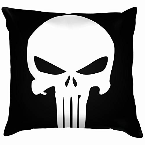 nes Icon Element Crime Punishment The Arts Punisher Pillow Case Throw Pillow Cover Square Cushion Cover 18X18 Inch ()