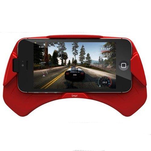E-Stand ZT-IPHONE5-GRIP-BLK Spielgriff für iPhone 5 / 5S rot Blk-stand