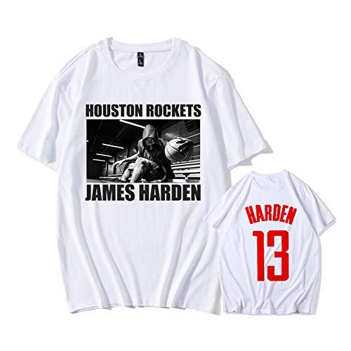 Rocket James Harden T-Shirt 13 Basketball Clothes Summer Sports Short-Sleeved Men's Clothing -