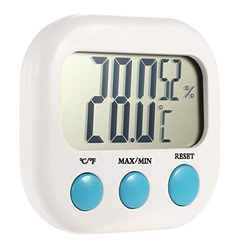 Anself Digital Thermo-Hygrometer Innen Thermometer mit Max/Min-Werte von Temperatur