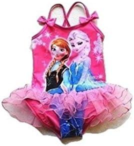 2/3 años nuevo de equitación para niña Old rosa Frozen Elsa y Anna con volantes ropa de descanso para niñas Clothing Bañador para niños que los bañadores de diseño de la 2/3 años