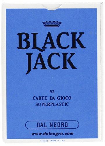 Dal negro 90029 - black jack astuccio singolo celeste, carte da gioco